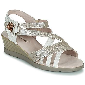 Schoenen Dames Sandalen / Open schoenen Damart 61170 Zilver