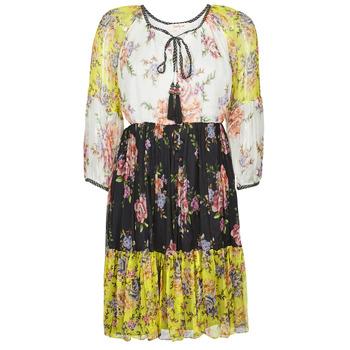 Textiel Dames Korte jurken Derhy SARDAIGNE Zwart / Wit / Geel