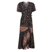 Textiel Dames Lange jurken Derhy SUEDE Zwart / Multicolour