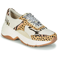 Schoenen Dames Lage sneakers Gioseppo FORMIA Wit / Luipaard