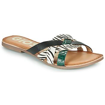 Schoenen Dames Leren slippers Gioseppo STILES Zwart / Wit