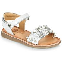 Schoenen Meisjes Sandalen / Open schoenen Gioseppo MAZARA Wit / Zilver