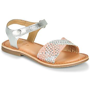 Schoenen Meisjes Sandalen / Open schoenen Gioseppo QUINCY Zilver / Roze