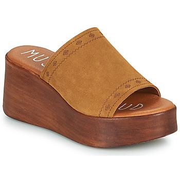 Schoenen Dames Leren slippers Musse & Cloud MANA Cognac