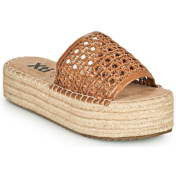 Schoenen Dames Leren slippers Xti FREDI Camel