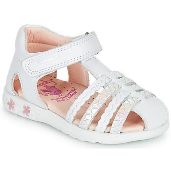 Schoenen Meisjes Sandalen / Open schoenen Pablosky TONNI Wit / Roze