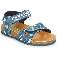 Schoenen Jongens Sandalen / Open schoenen Pablosky FOUNIR Blauw