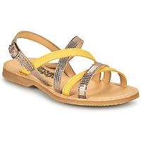 Schoenen Meisjes Sandalen / Open schoenen Citrouille et Compagnie GENTOU Geel / Zilver