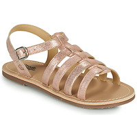Schoenen Meisjes Sandalen / Open schoenen Citrouille et Compagnie MAYANA Roze / Goud