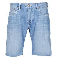 Textiel Heren Korte broeken / Bermuda's Pepe jeans STANLEU SHORT BRIT Blauw / Clair