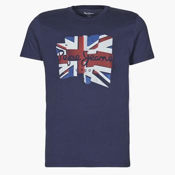 Textiel Heren T-shirts korte mouwen Pepe jeans DONALD Marine