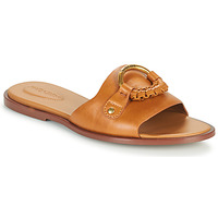 Schoenen Dames Leren slippers See by Chloé HANA SB3305 Cognac