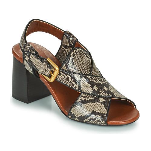 Schoenen Dames Sandalen / Open schoenen See by Chloé HELLA Beige / Grijs