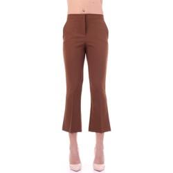 Textiel Dames Pantalons Angela Davis EG71 Tabacco