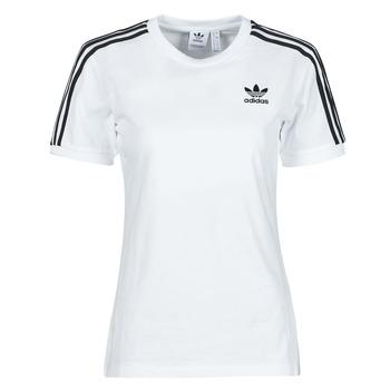 Textiel Dames T-shirts korte mouwen adidas Originals 3 STRIPES TEE Wit