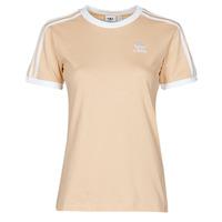 Textiel Dames T-shirts korte mouwen adidas Originals 3 STRIPES TEE Oranje