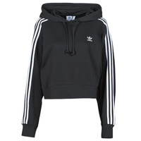 Textiel Dames Sweaters / Sweatshirts adidas Originals SHORT HOODIE Zwart