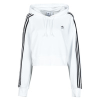 Textiel Dames Sweaters / Sweatshirts adidas Originals SHORT HOODIE Wit