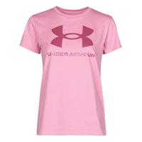 Textiel Dames T-shirts korte mouwen Under Armour LIVE SPORTSTYLE GRAPHIC SSC Roze