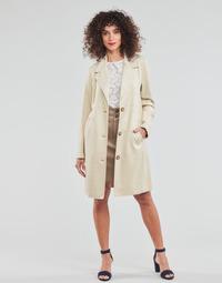 Textiel Dames Mantel jassen Esprit SUEDE COAT Beige