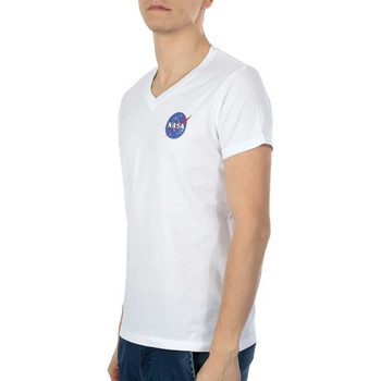 Textiel Heren T-shirts korte mouwen Nasa  Wit
