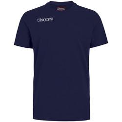 Textiel Jongens T-shirts & Polo's Kappa T-shirt enfant  Tee bleu royal