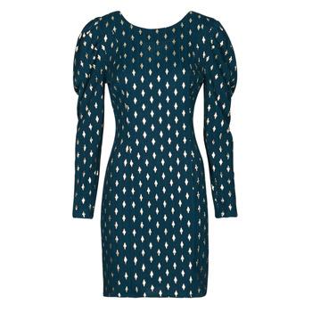 Textiel Dames Korte jurken Naf Naf HERMIONE R1 Marine / Goud