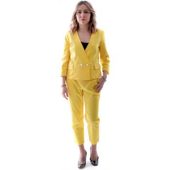 Textiel Dames Kostuums Fracomina FR20SP090 Geel