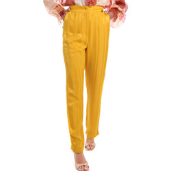 Textiel Dames Broeken / Pantalons Fracomina FR20SM649 Geel