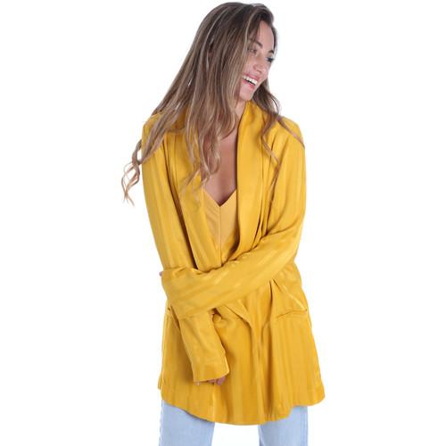 Textiel Dames Jasjes / Blazers Fracomina FR20SM648 Geel