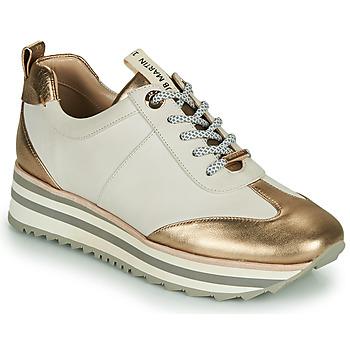 Schoenen Dames Lage sneakers JB Martin 4CANDIO Banc / Goud