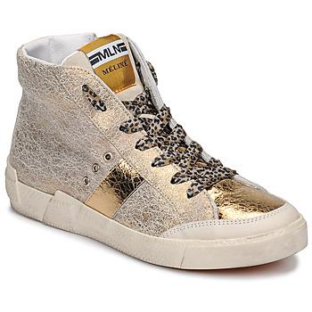 Schoenen Dames Hoge sneakers Meline NK1384 Goud