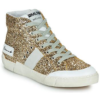 Schoenen Dames Hoge sneakers Meline NKC1369 Goud