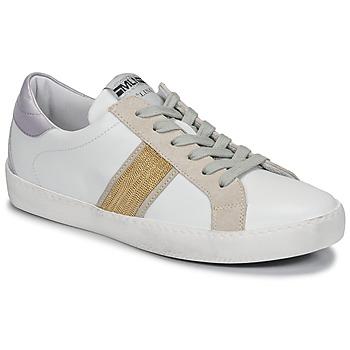 Schoenen Dames Lage sneakers Meline  Wit / Goud