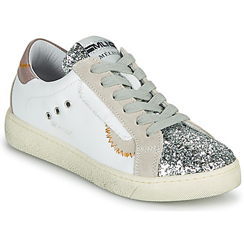 Schoenen Dames Lage sneakers Meline CAR139 Wit / Glitter