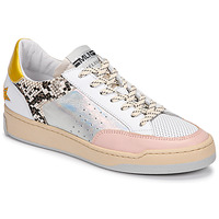 Schoenen Dames Lage sneakers Meline  Wit / Roze