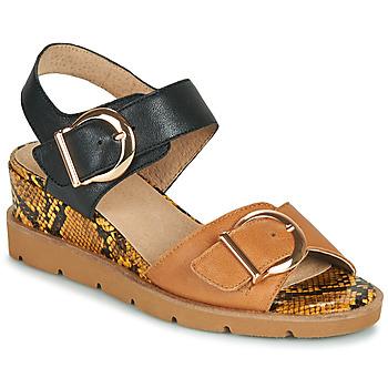 Schoenen Dames Sandalen / Open schoenen Sweet ETOXYS Zwart / Camel