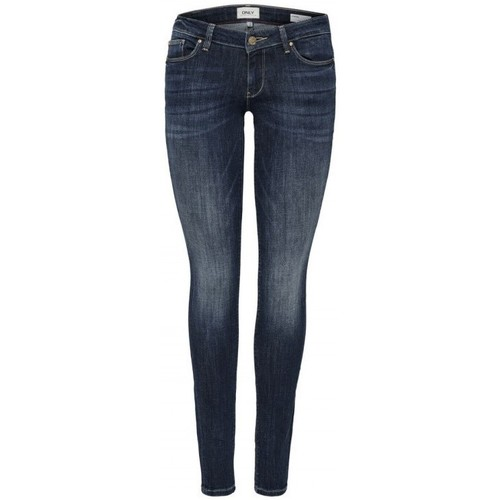Textiel Dames Skinny Jeans Only ONLCAROL LOW 15182381 Blauw