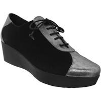 Schoenen Dames Derby Brenda Zaro FZ1096 Zwart / zilver
