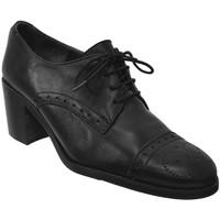 Schoenen Dames Derby Folies NERETA Zwart leer