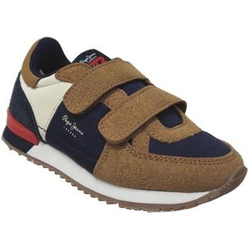 Schoenen Jongens Lage sneakers Pepe jeans Sydney combi boy Bruin
