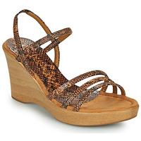 Schoenen Dames Sandalen / Open schoenen Unisa RENERA Bruin / Slang
