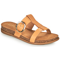 Schoenen Dames Leren slippers Unisa CIVETA Camel