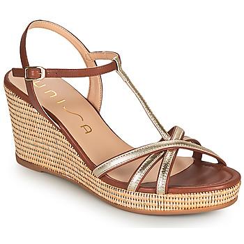 Schoenen Dames Sandalen / Open schoenen Unisa LLINAR Goud