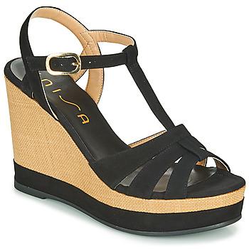 Schoenen Dames Sandalen / Open schoenen Unisa MANACOR Zwart