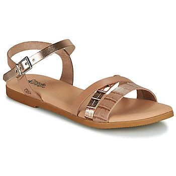 Schoenen Meisjes Sandalen / Open schoenen Citrouille et Compagnie OBINOU Tan / Goud
