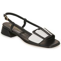 Schoenen Dames Sandalen / Open schoenen Fericelli PANILA Zwart / Wit