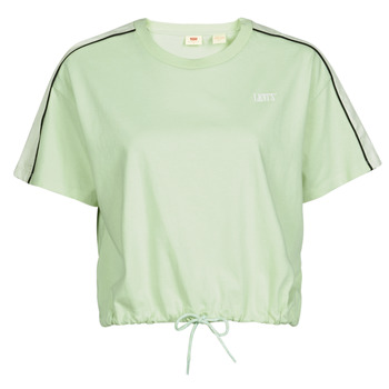 Textiel Dames T-shirts korte mouwen Levi's GINGER NYLON PIECED TEE BOK CHOY, TOFU & CAVIAR Wit