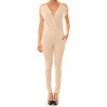 Textiel Dames Jumpsuites / Tuinbroeken La Vitrine De La Mode Combinaison 155 By La Vitrine Beige Beige