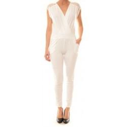 Textiel Dames Jumpsuites / Tuinbroeken La Vitrine De La Mode Combinaison 155 By La Vitrine Blanche Wit
